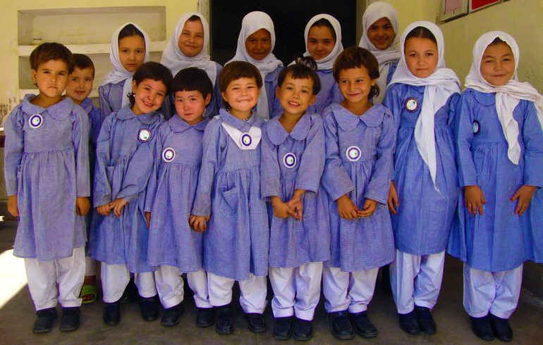 Picture of elementary students in Pakistan
